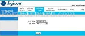 Setting Digicom ADSLRouter Easily for NTC