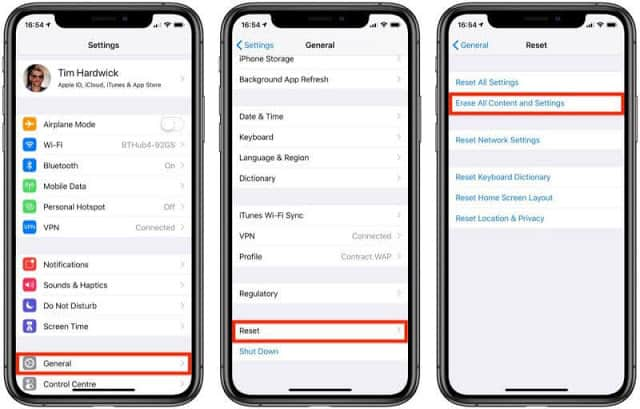 Factory Reset of iPhone Step by step