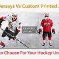 Blank Jerseys Vs Custom Printed Jerseys