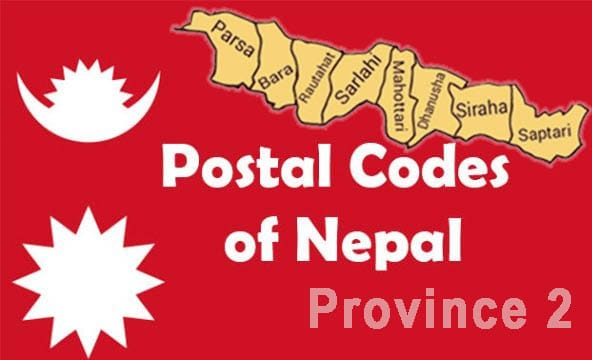 Postal codes of Nepal province 2