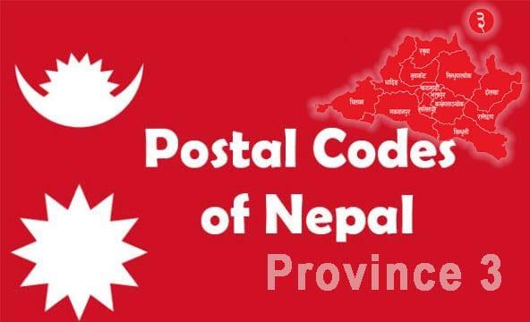 Postal codes of Nepal province 3 Bagmati postal codes