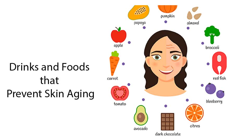 Drinks and Foods that Prevent Skin Aging