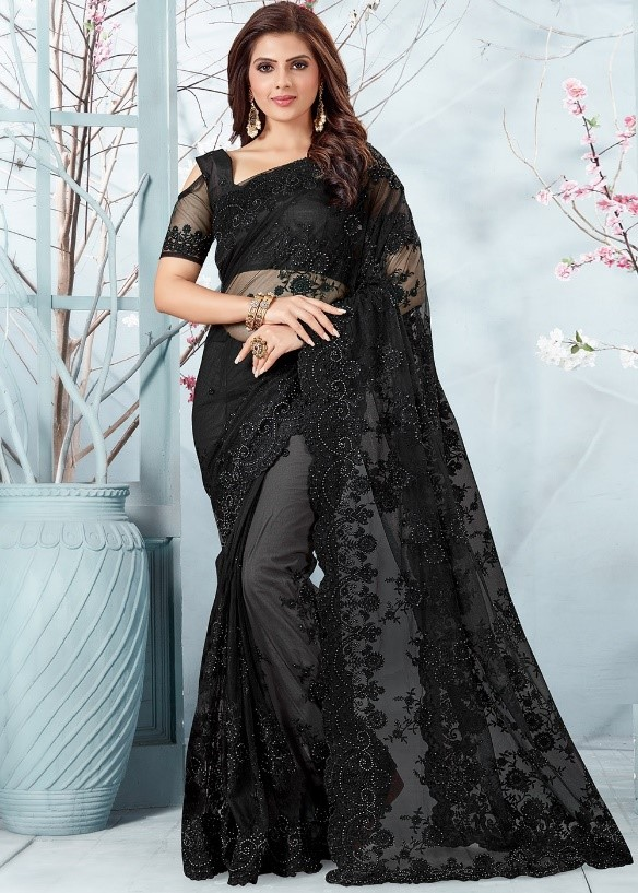 black party saree dress for girls