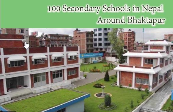 100 Secondary Schools in Nepal Around Bhaktapur
