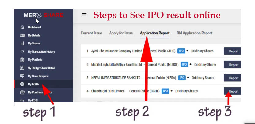 Steps to check IPO result Online