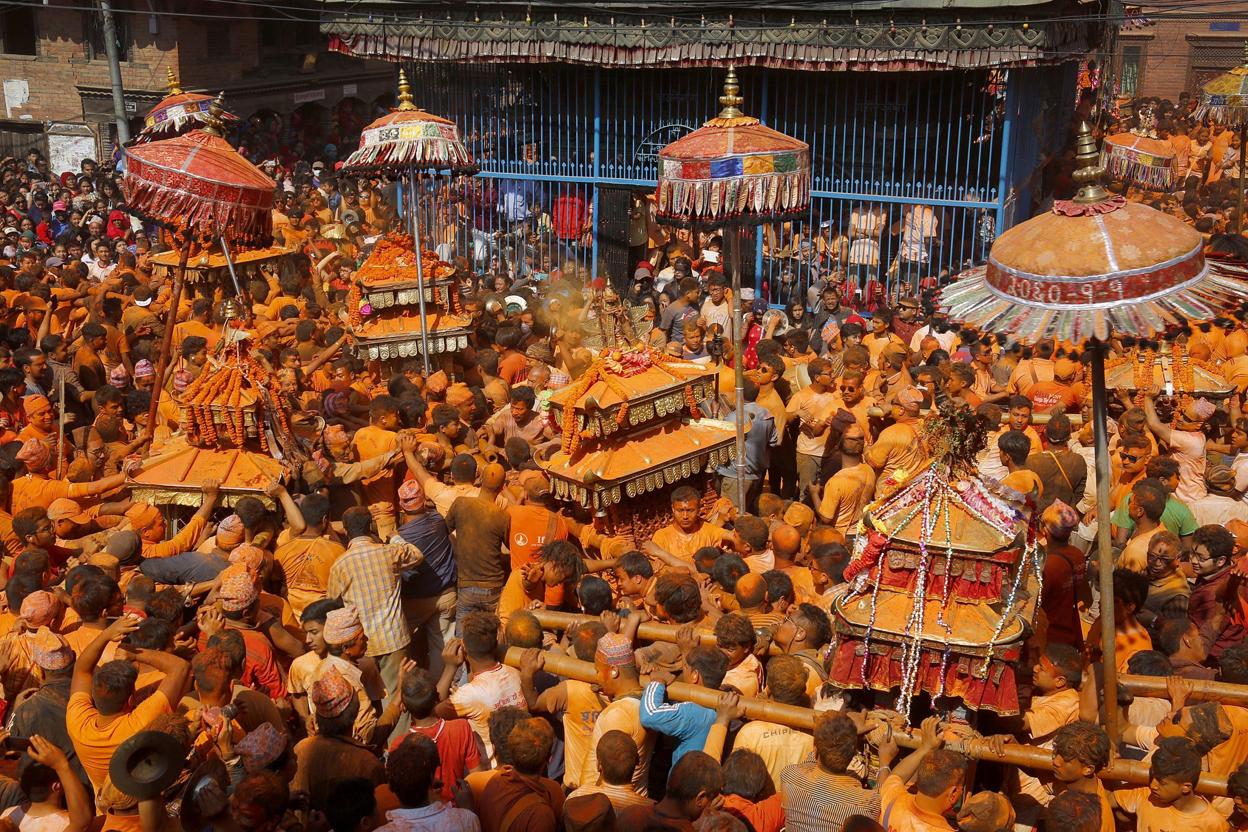 Sindoor Jatra Thimi bhaktapur nepal festival