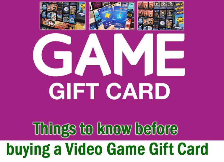 Things to know before buying a video game gift card