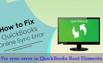 How to fix sync error in QuickBooks root elements